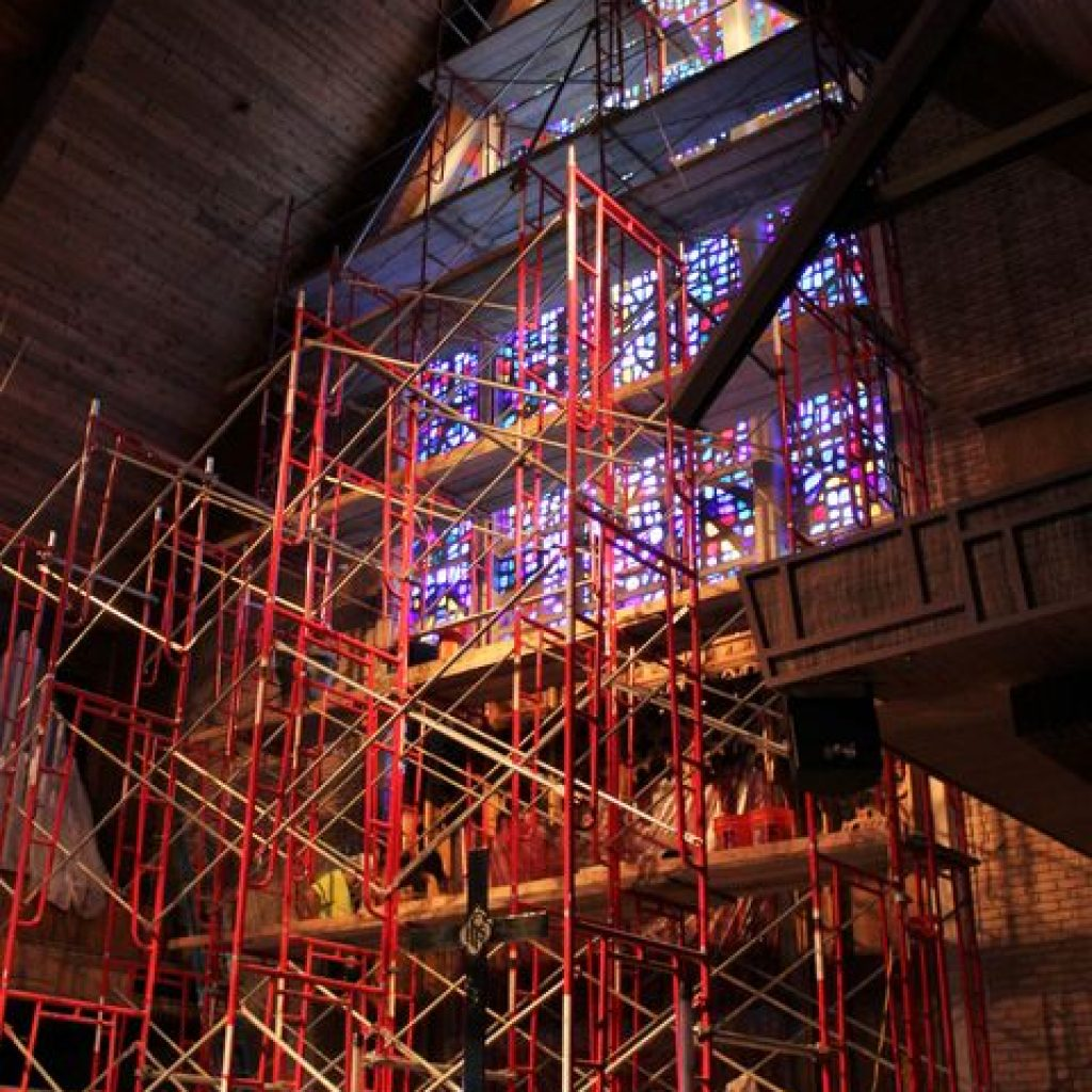 Abilene church adjusts to stained glass window repair