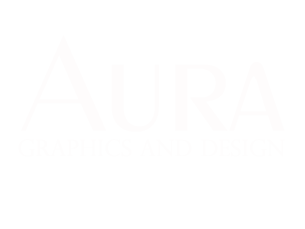 aura logo white logo