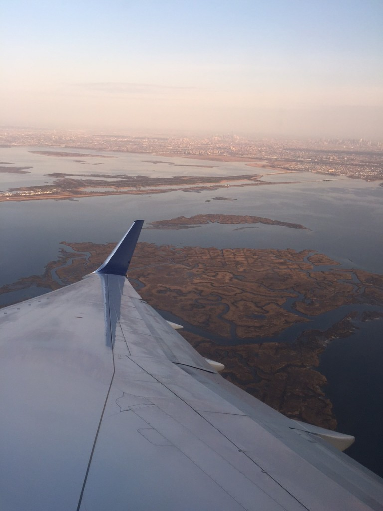 Taking off from JFK - beautiful day to fly!