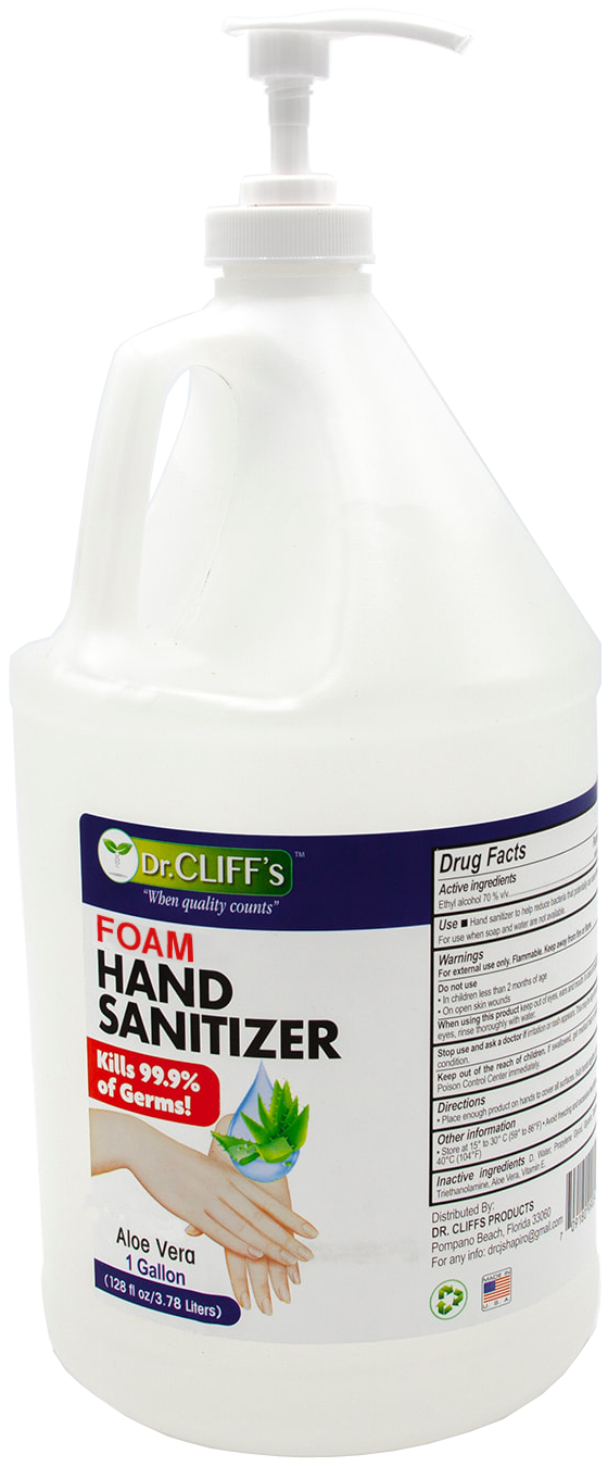 HSF1G Foam Hand Sanitizer with BZK - Alcohol Free