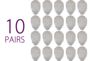 10 Pairs of large pads for pulse massager - 20largepads
