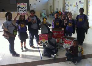 Mayfair Lab School collected 237 pounds of food in November 2014