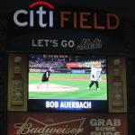 Bob Auerbach throws strikes at Mets game
