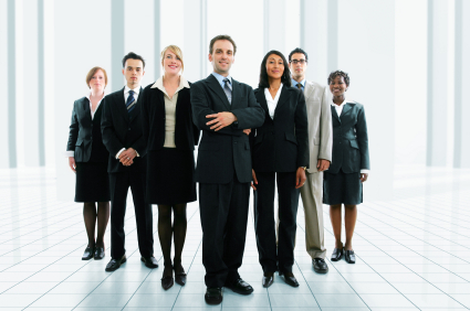 Group of people dressed in business clothes
