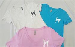 Lady Hound V-Neck T-shirt