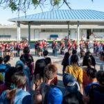 みなと学園創立40周年記念の全校集会