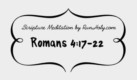 Scripture meditation audio meditation from the bible for Christian meditation, RunHoly.com