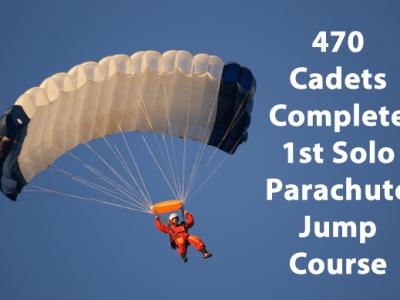 470 Cadets Complete 1st Solo Parachute Jump Course