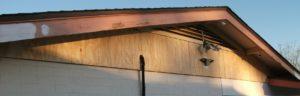 New Plywood Siding Above Garage