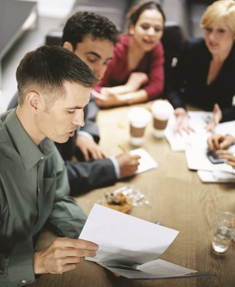 employees-talking-about-work