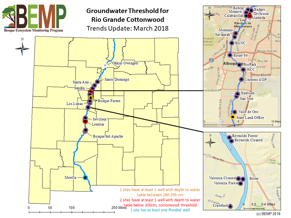 Groundwater Threshold for Rio Grande Cottonwood March 2018