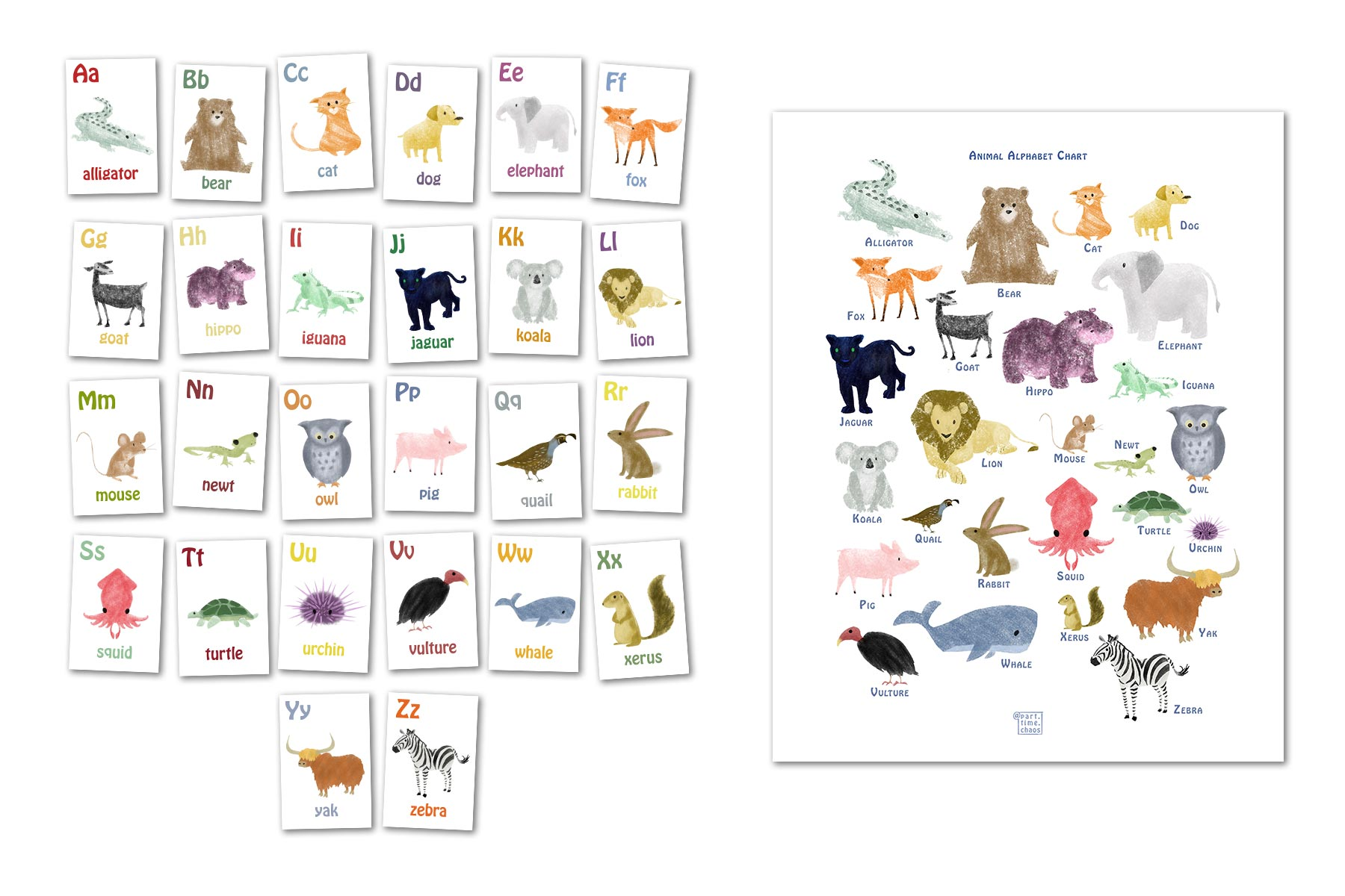 animal alphabet all