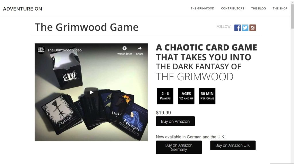 The Grimwood Page