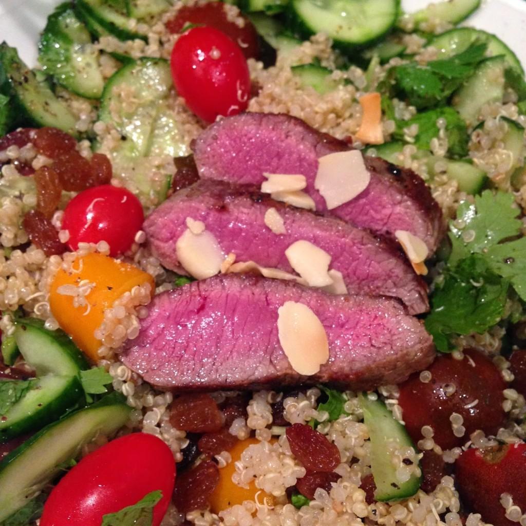 photo of quinoa salad with lamb