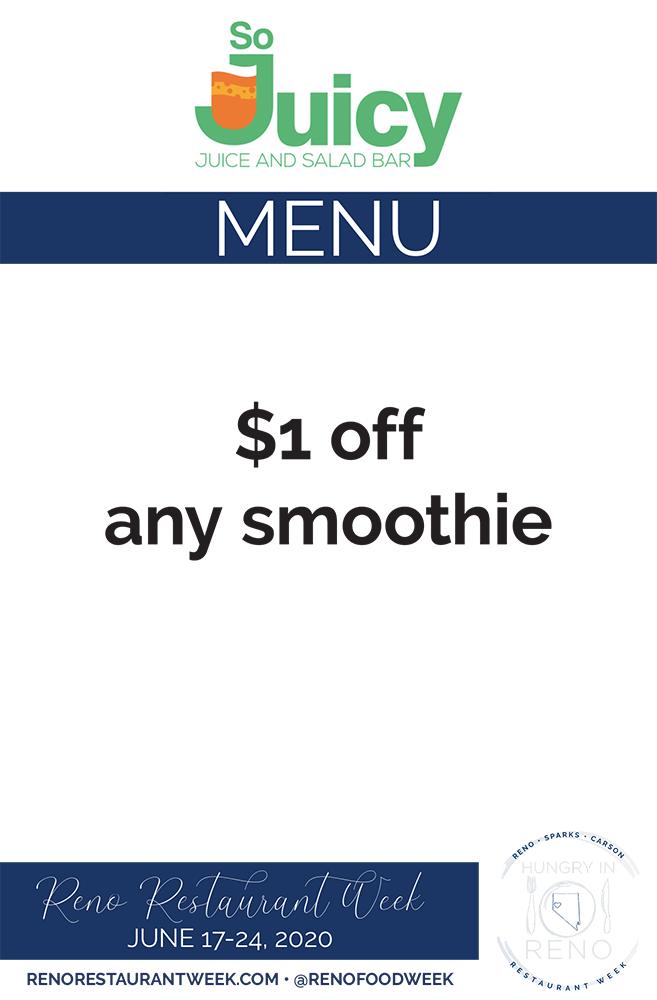 So Juicy menu