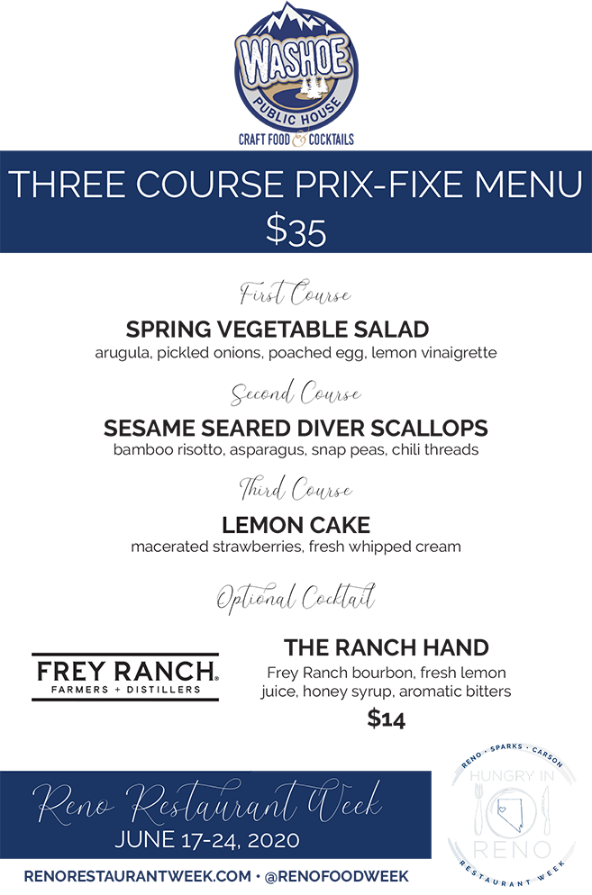 Washoe Public House menu