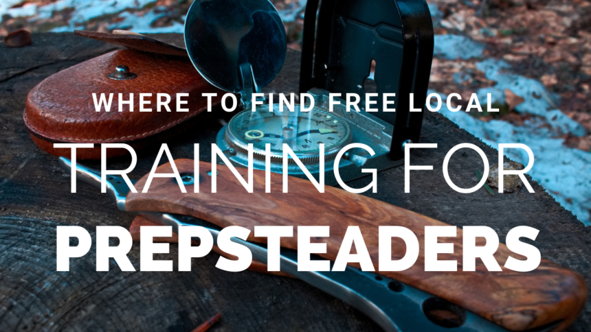How to Find FREE LOCAL Training for PREPSTEADERS