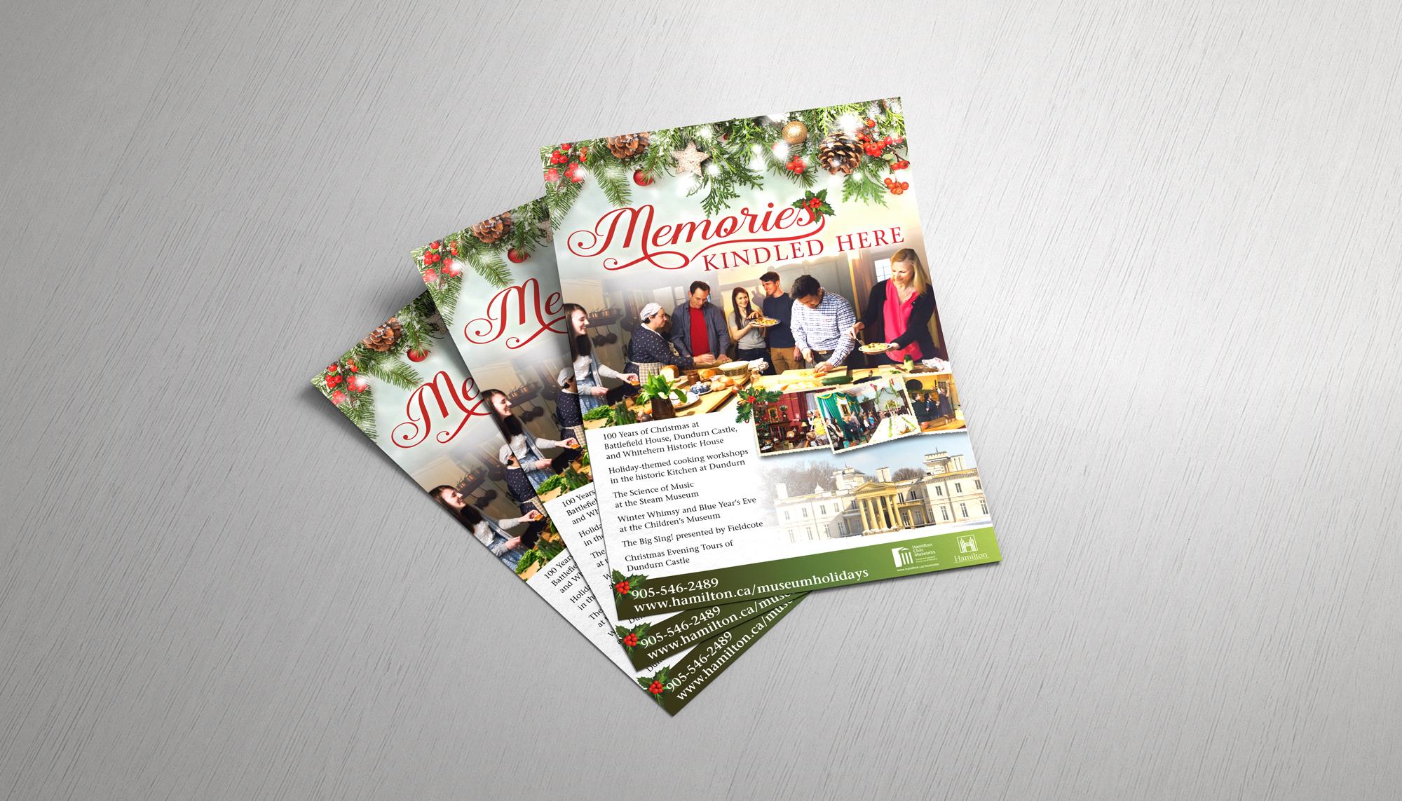 Memories Christmas Poster Design