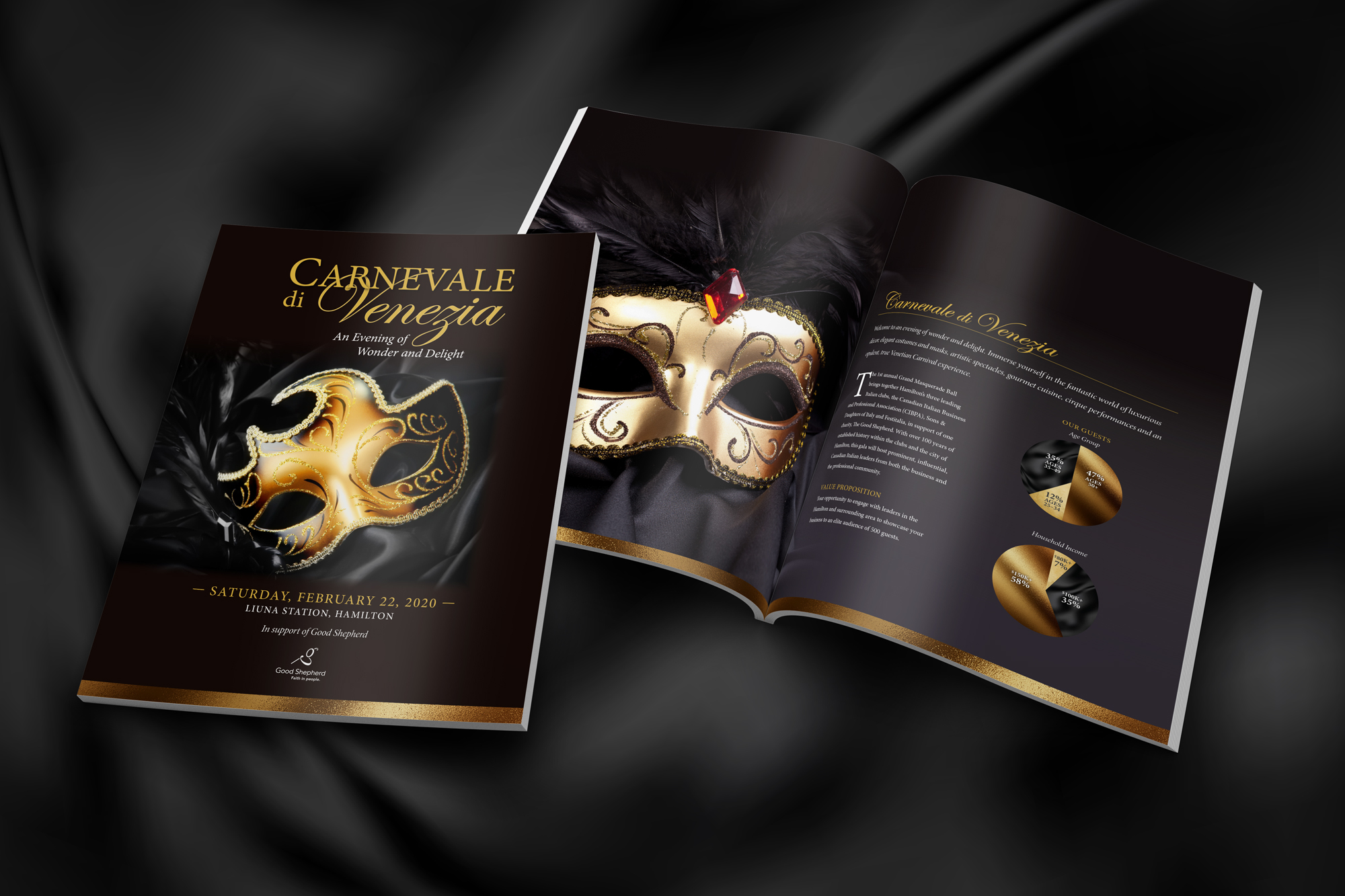 Brochure for Carnevale Event
