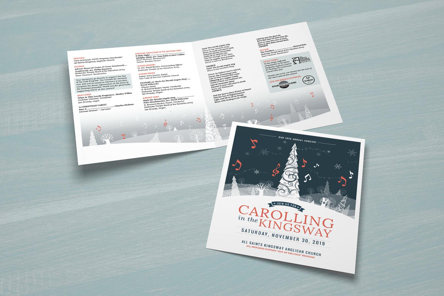 Carolling on the Kingsway Booklet Design