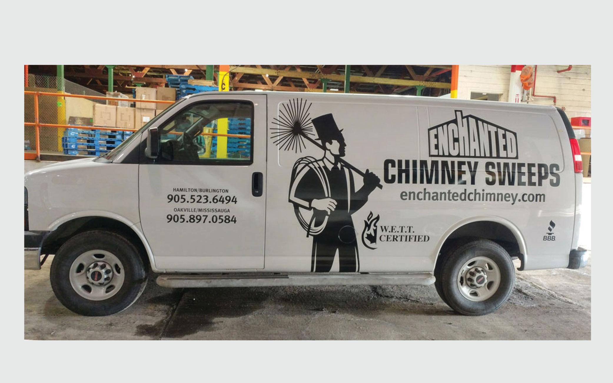 Enchanted Chimney Cut Vinyl and Install