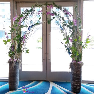 Curly Willow & Orchid Wedding Arch