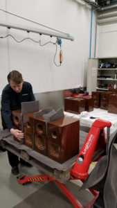 Dynaudio speakers in progress