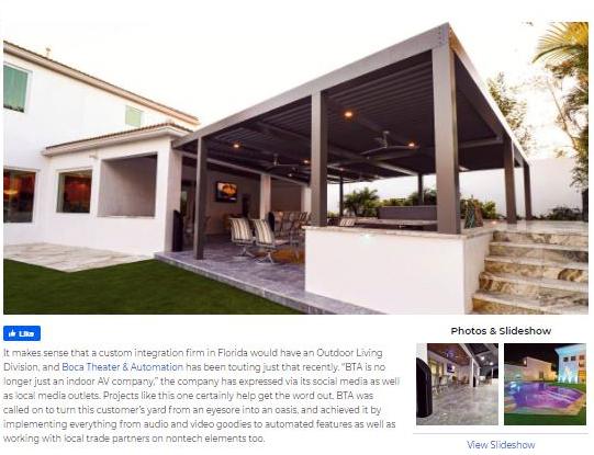 CE PRO – Florida Integrator Helps Turn Outdoor Eyesore into an AV-Filled Oasis