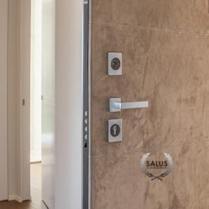 Solid steel security doors beneath coveted Italian design