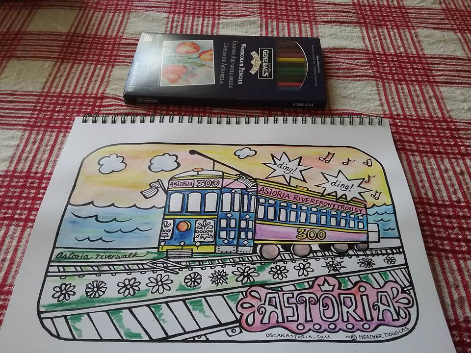 Brooke sent this beauty in from Sequim (watercolor pencil!)