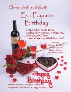 Narrow version of the Valentines birthday party invitation