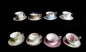 Teacup test #2 - on black shelves