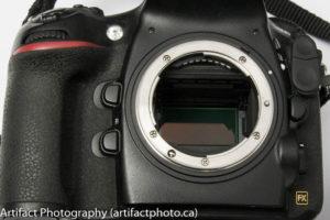 The camera sensor - be gentle!