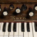 Karn reed organ, manufactured in Woodstock, Ontario, Canada