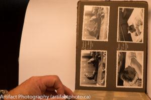 Unprocessed photo album page
