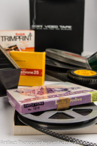 8mm, 16mm, and 35mm movies with Sony helical scan video tape