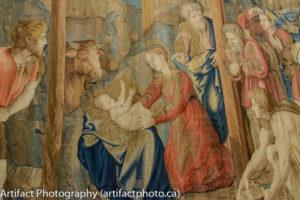 Nativity scene tapestry