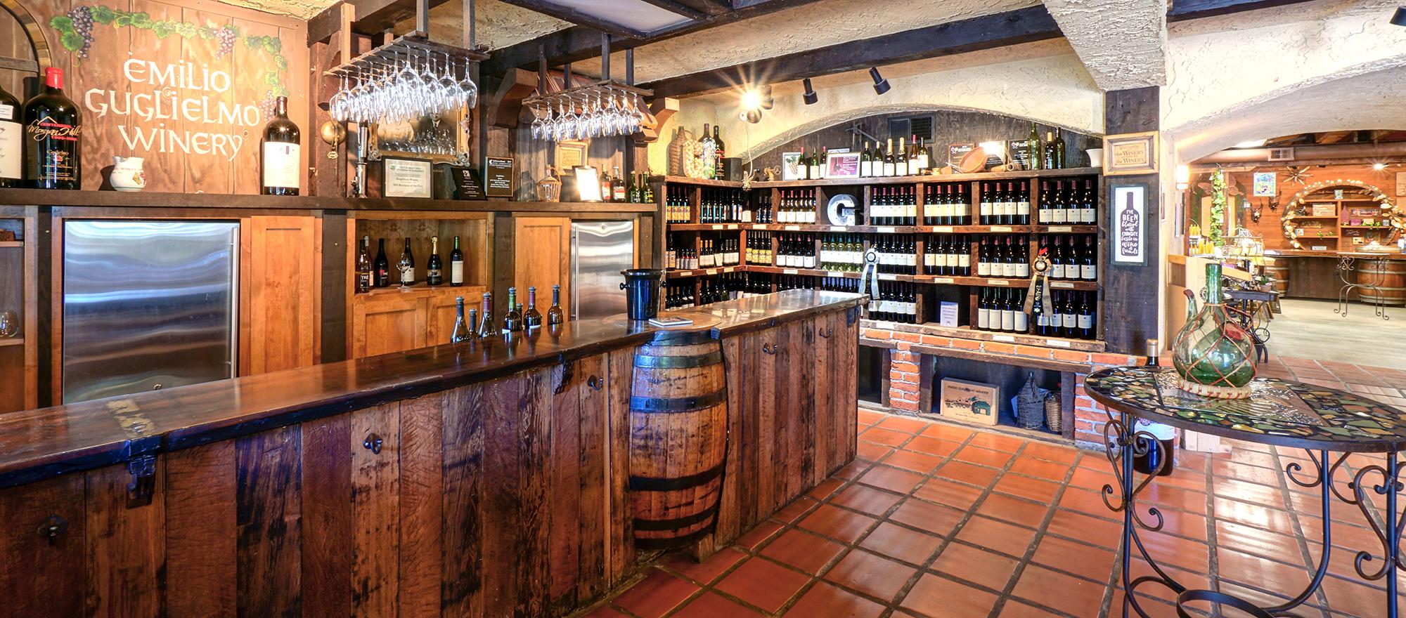 Guglielmo Winery Tasting Room Slider