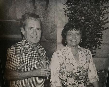 George W. Guglielmo and wife Madeline 1945