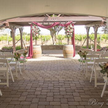 Optional Event Seating for Guglielmo Winery Wedding