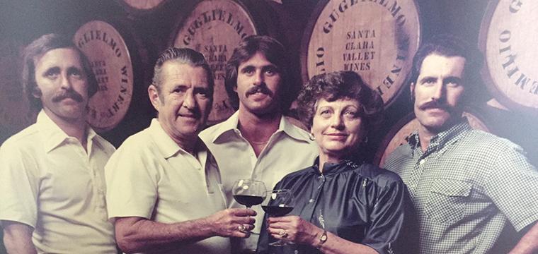 Guiglielmo Family at Winery 1969