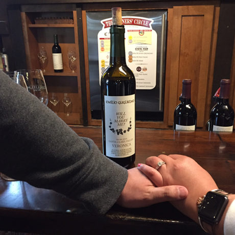 Guglielmo Winery Marriage Proposal