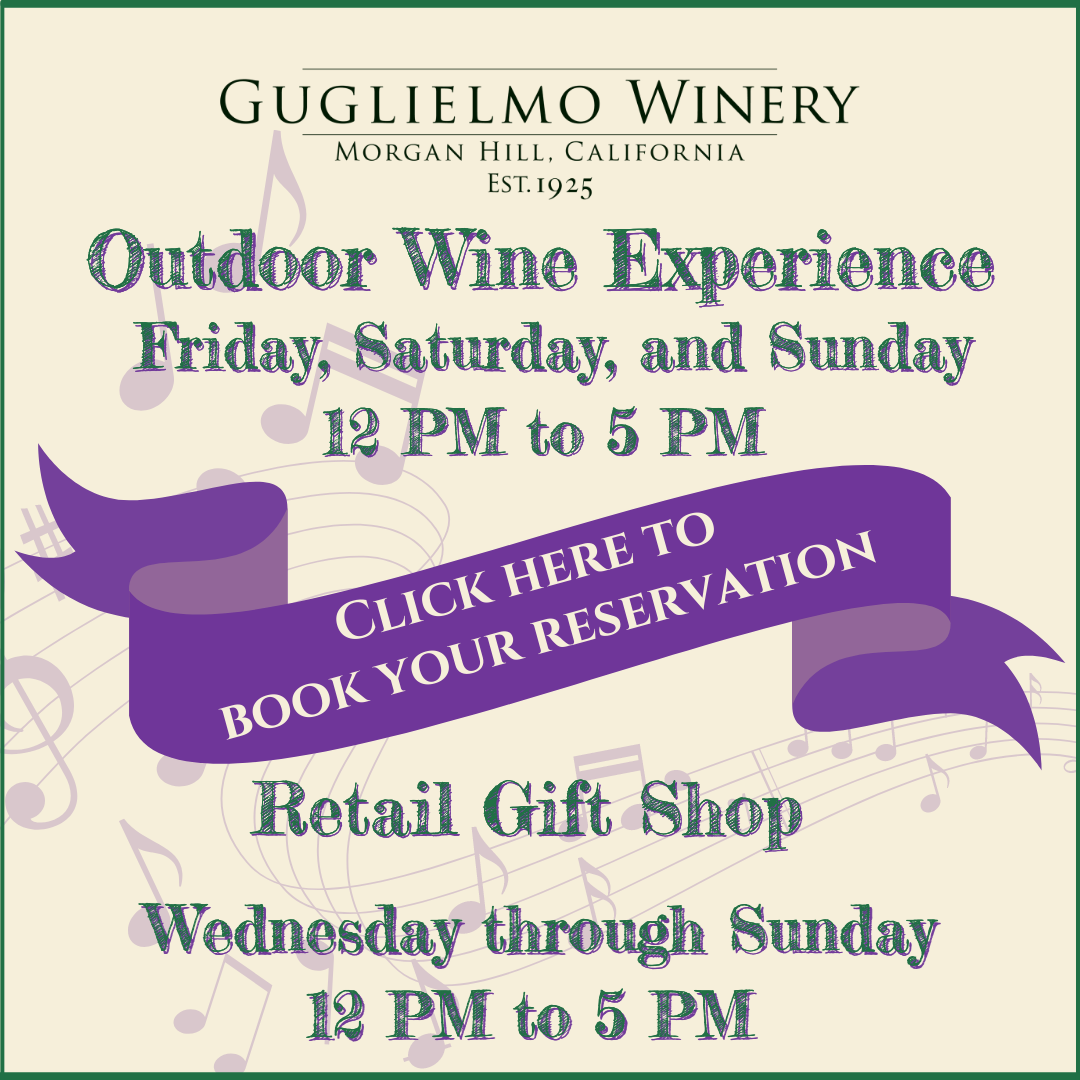 Make a reservation for our outdoor wine experience