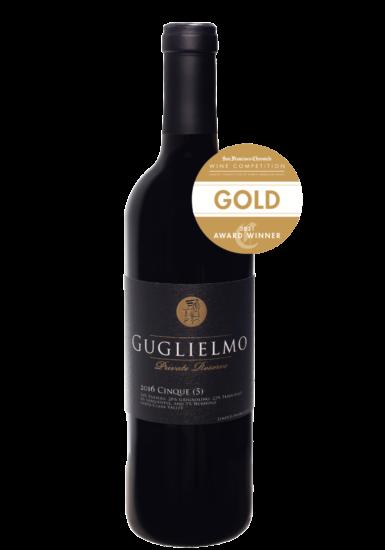 Guglielmo Private Reserve 2016 Cinque Gold Medal Winner San Francisco Chronicle Wine Competition