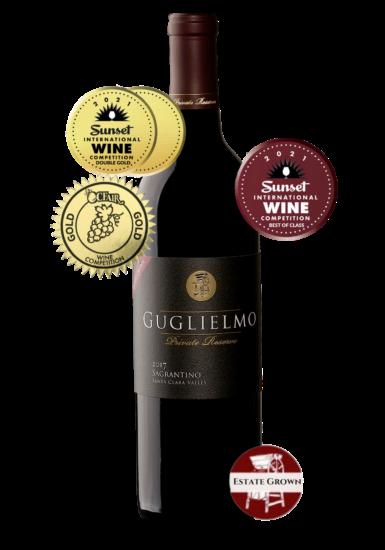 Guglielmo Private Reserve Estate Grown Sagrantino Double Gold, Best in Class, Gold at OC Fair