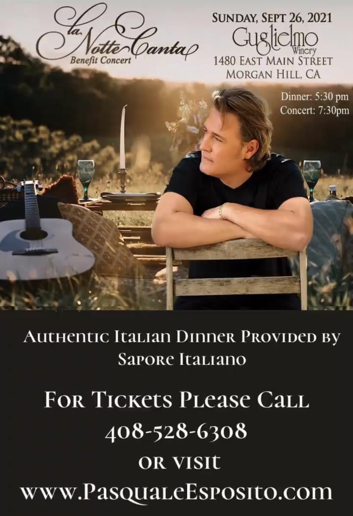 La Notte Canta Benefit Concert with Pasquale Esposito