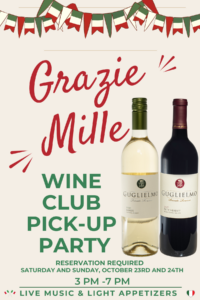 Grazie Mille Wine Club Pick Up Party