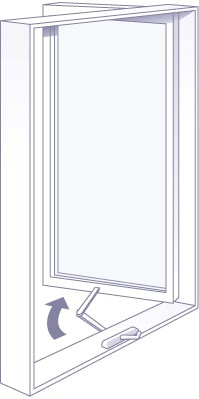 Hinged casement windows are available in many sizes and are a great choice for Okanagan homes
