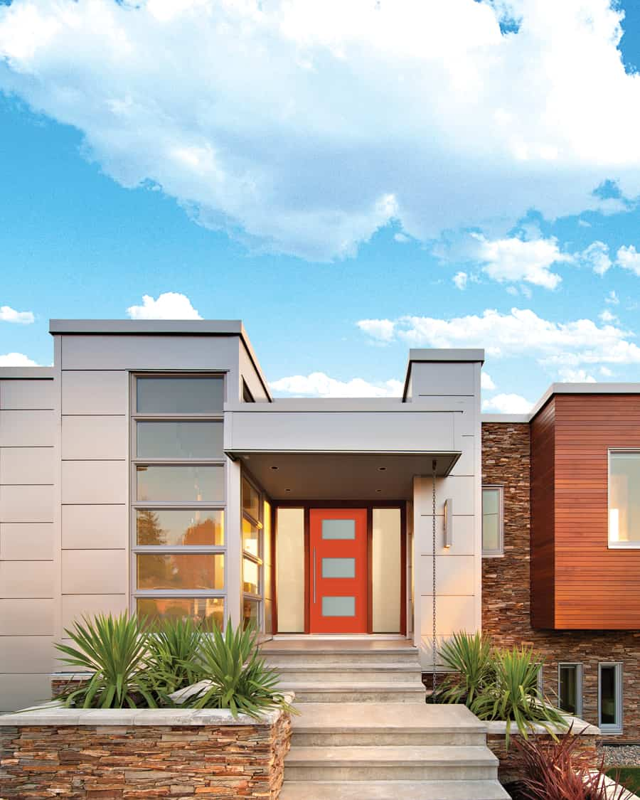 Add a colourful and modern front entry door to your Okanagan home!