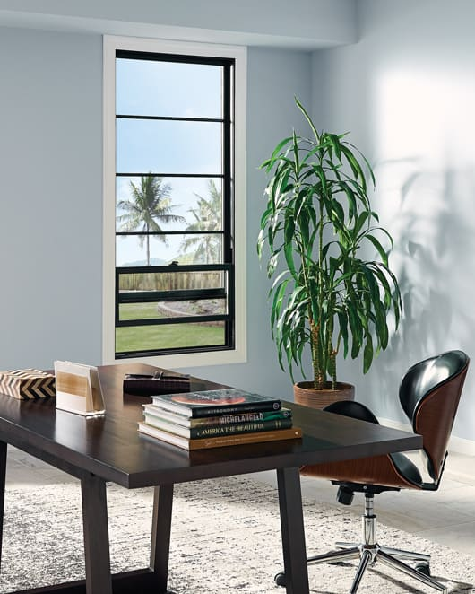Fiberglass windows for home offices